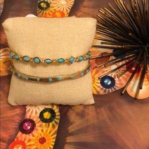 Sorrelli Turquoise Bangle Set